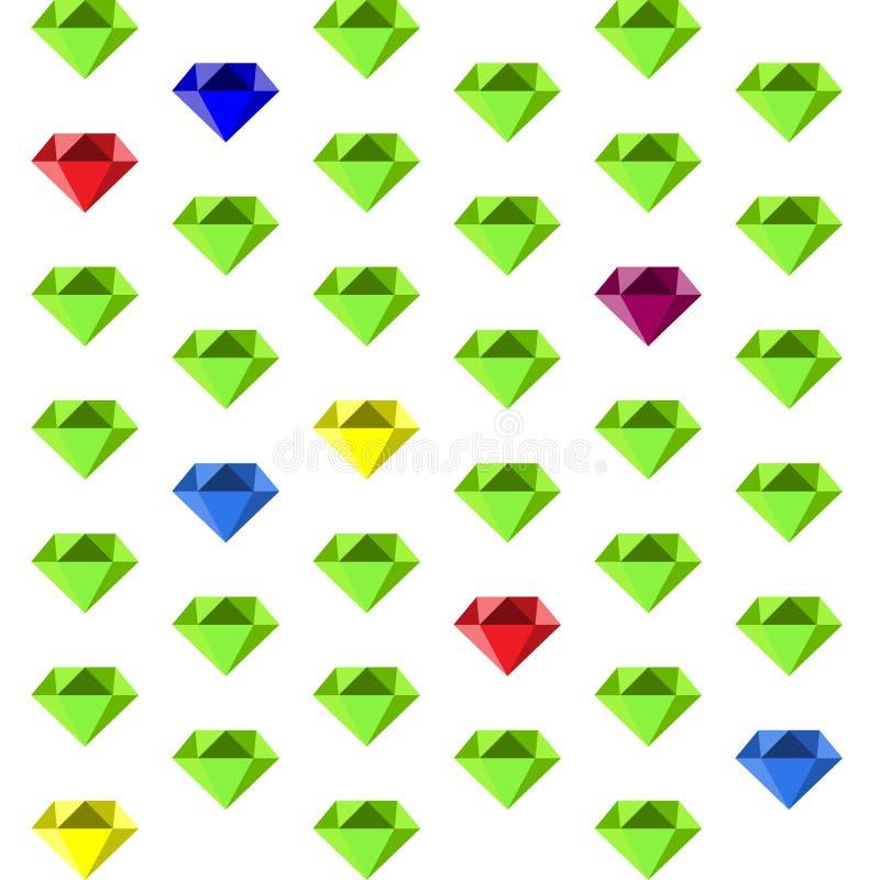 Um teste padrão com diamantes multi-coloridos fotografia de stock royalty free