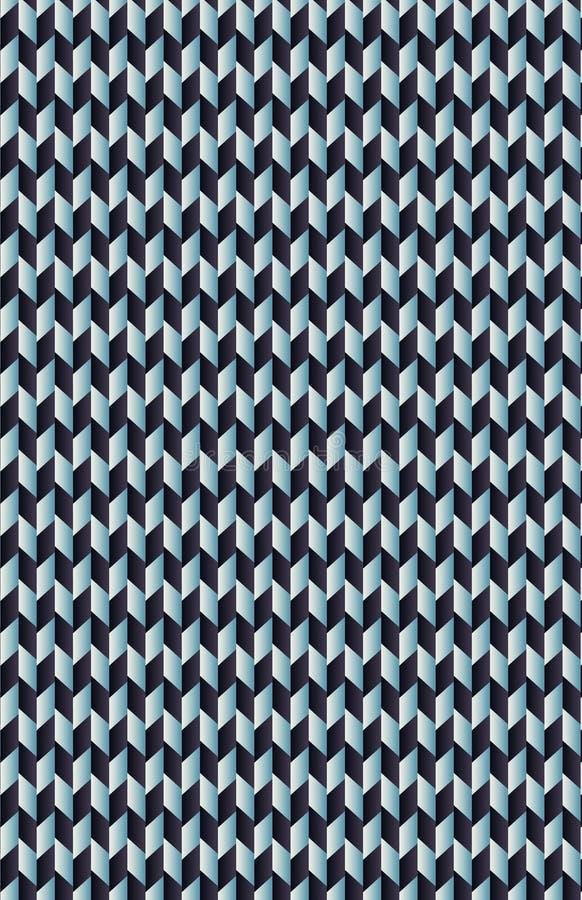 Um teste padrão de trapézios azuis e cianos ilustração stock