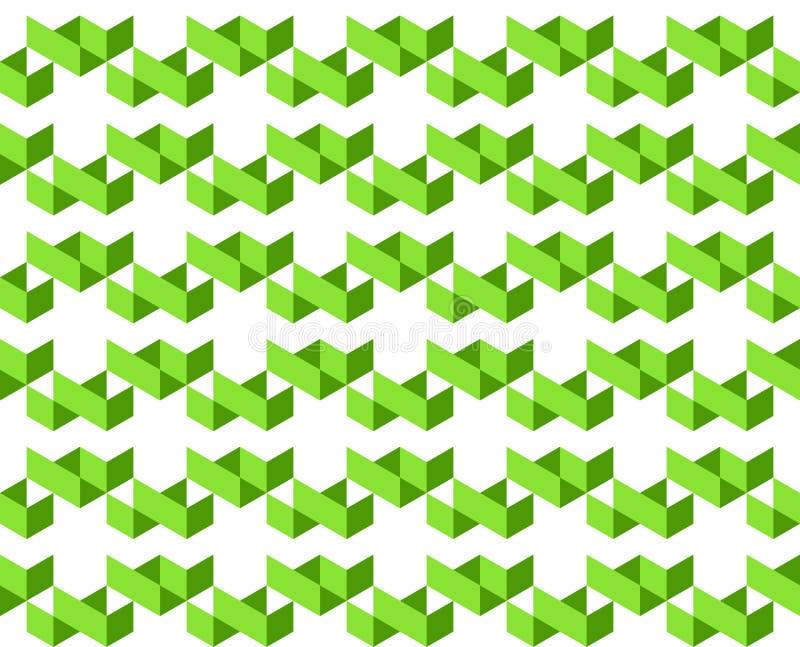 Um teste padrão geométrico abstrato de 2 máscaras de cores verdes no fundo branco - Vector a ilustração, EPS10 ilustração do vetor