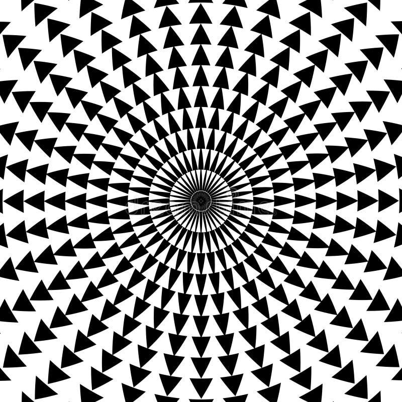 Teste padrão do triângulo ilustração stock