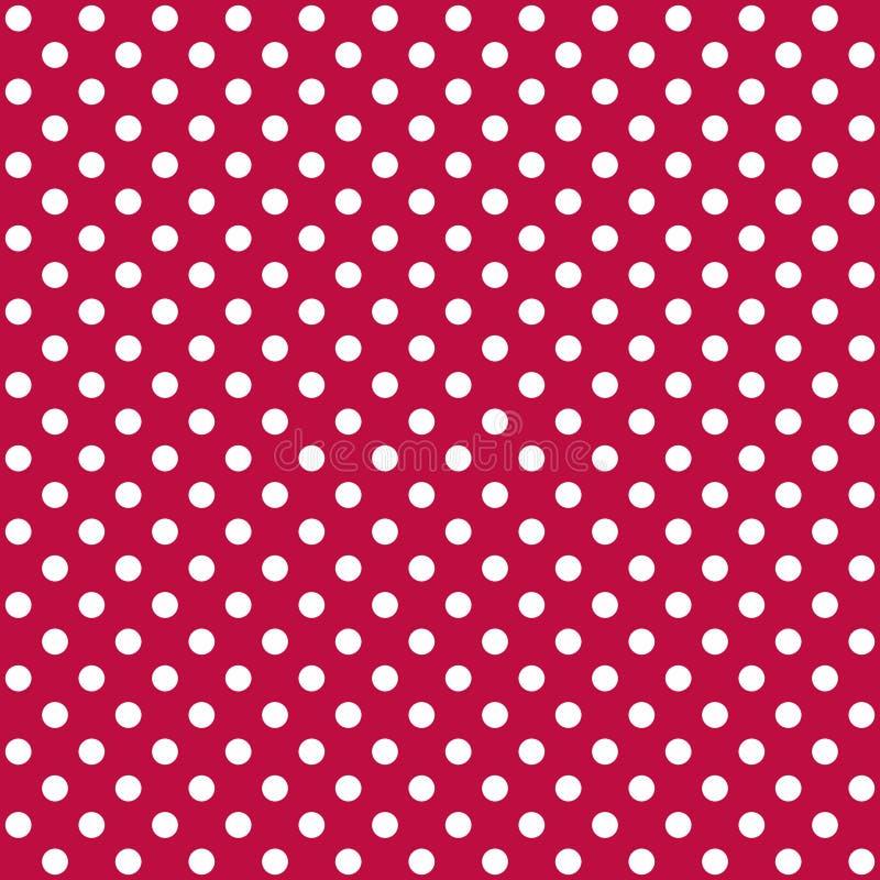 Um teste padrão sem emenda é um grande ponto branco em um fundo vermelho persa Arquivo do vetor do EPS ilustração stock