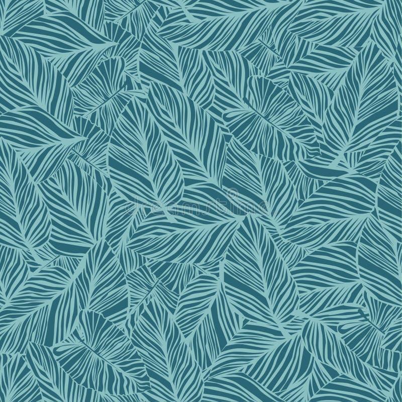 Um teste padrão sem emenda com folha Teste padrão da palma ilustração royalty free
