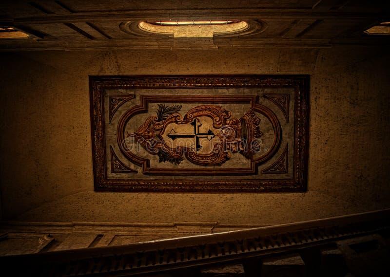 Um teto do século XVI imagens de stock royalty free