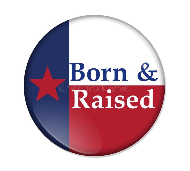 Um Texan idoso que diz o botão ilustração royalty free