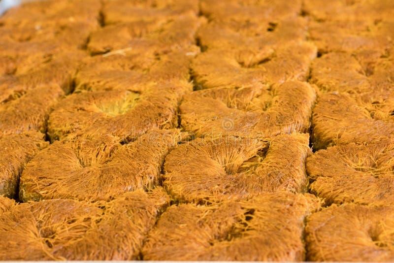 Um tipo da sobremesa do peru que nomeou o kadayif fotos de stock
