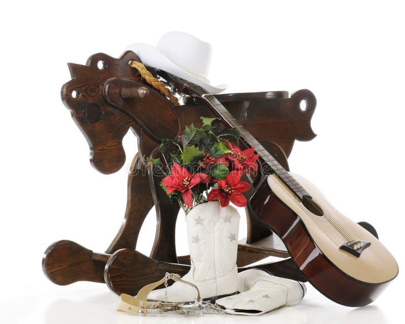 Um tipo do Cowgirl do Natal fotos de stock royalty free