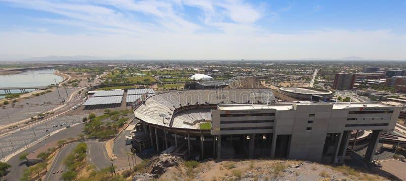 Um tiro do Sun Devil Stadium, Tempe, o Arizona imagem de stock