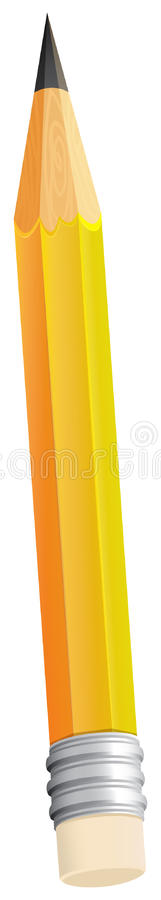Um topview de um lápis ilustração stock