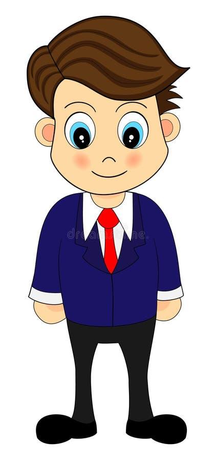 Um trabalhador de escritório no terno ilustração do vetor