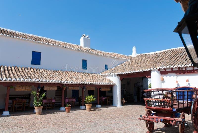Um treinamento no La Mancha, Spain. fotografia de stock royalty free