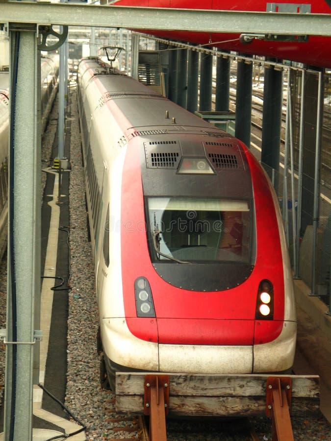 Um trem fotografia de stock