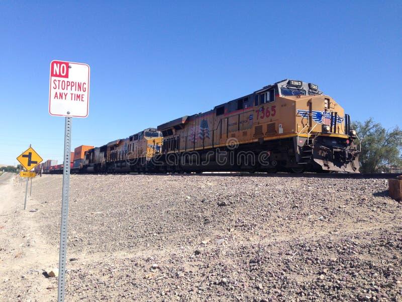 Um trem de mercadorias fotografia de stock