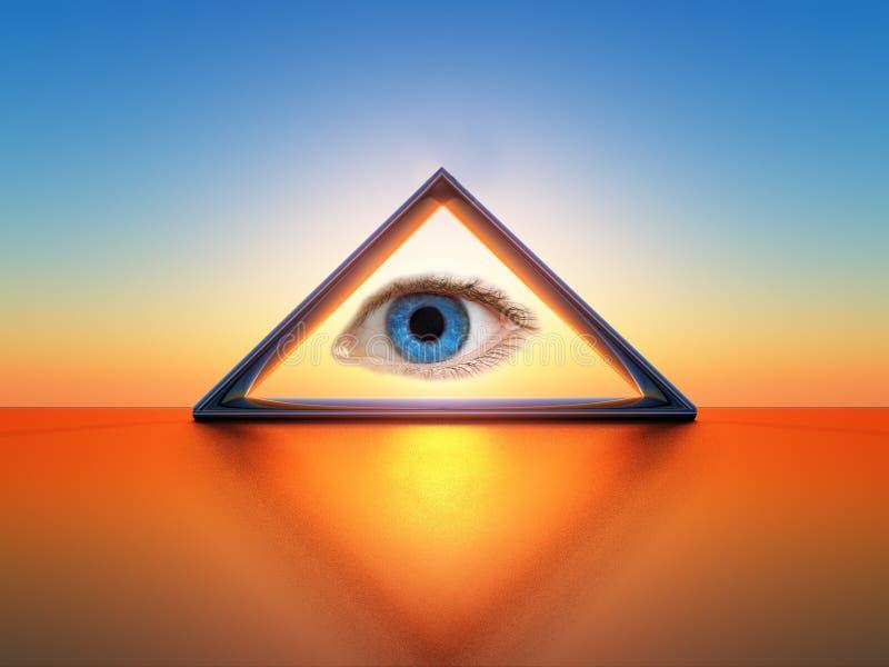 Vista triangular ilustração do vetor