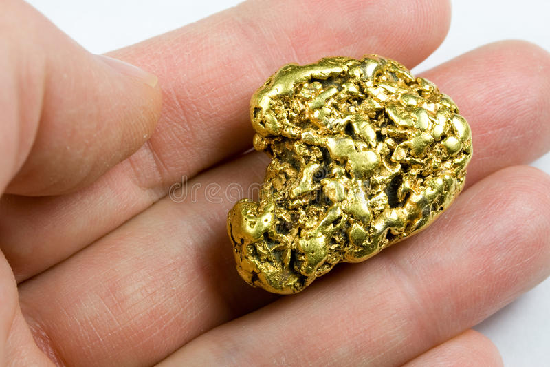 Um Troy Ounce California Gold Nugget foto de stock royalty free