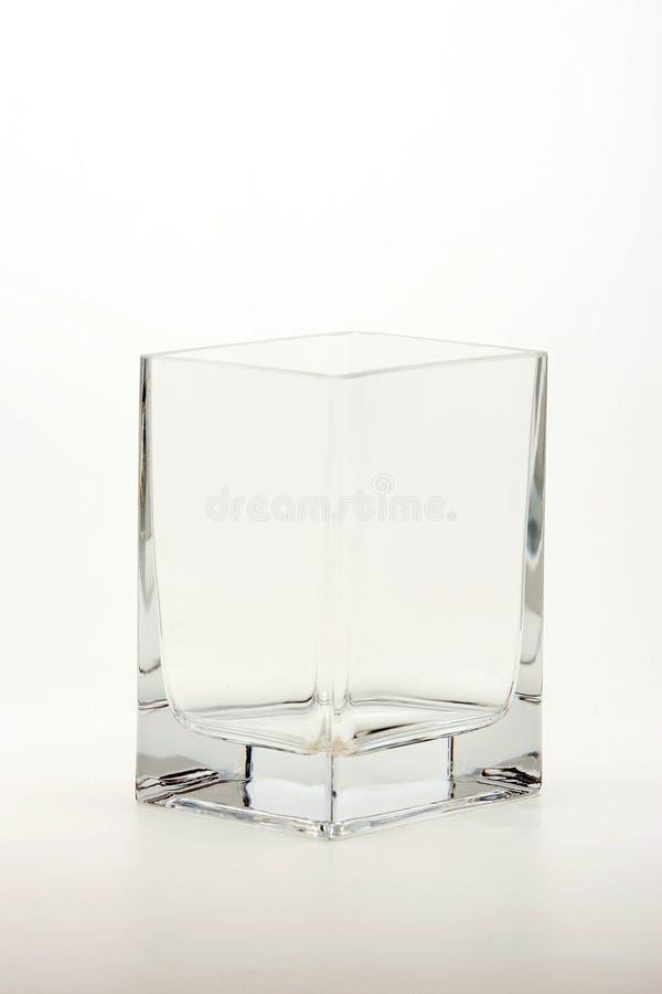 Um tumbler do vidro do sqare fotos de stock royalty free