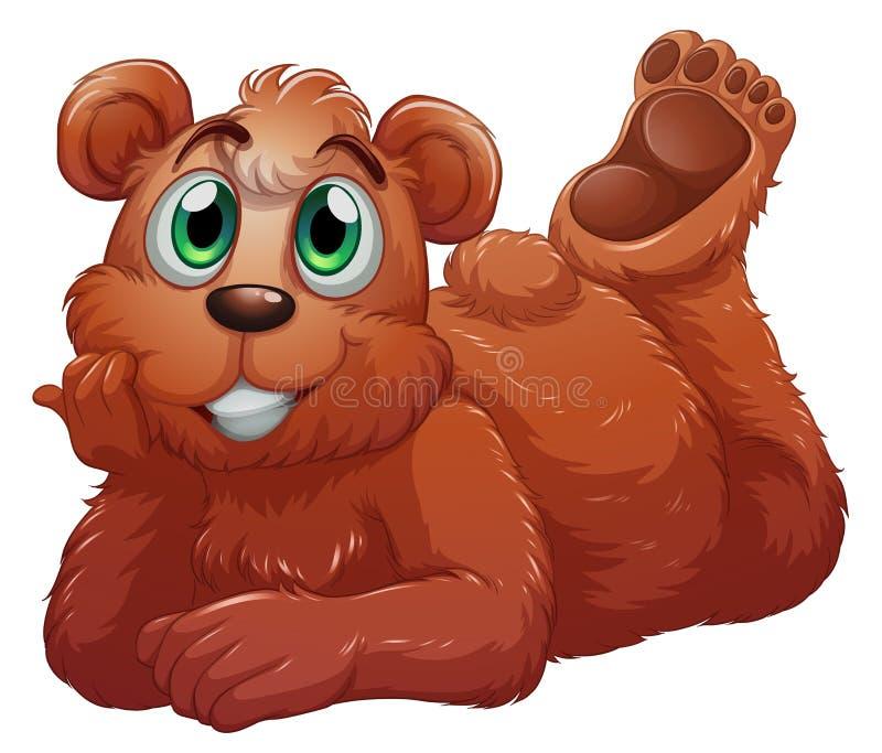Um urso de sorriso ilustração royalty free