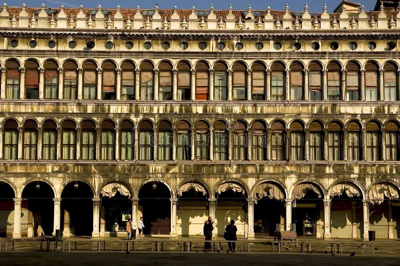 Um Venedig-Serie stockbild