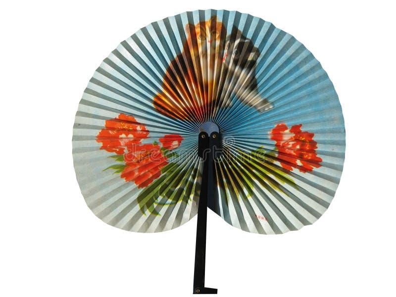Um ventilador chinês bonito fotos de stock
