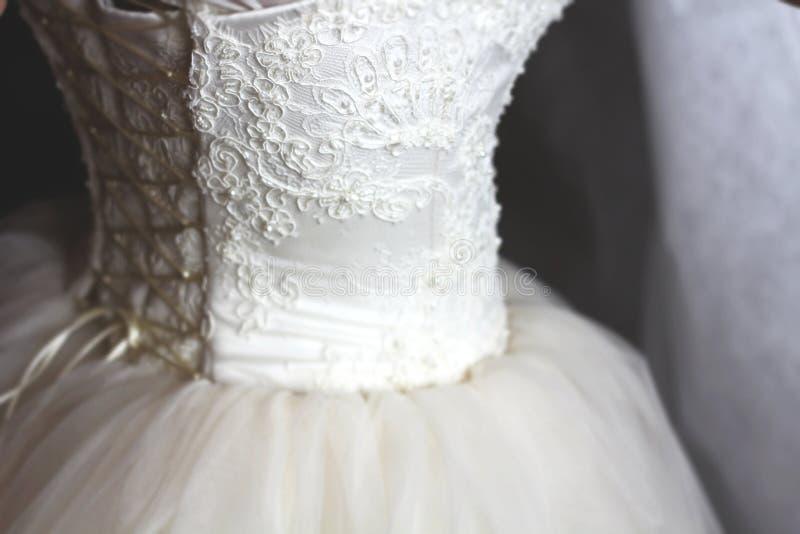 Um vestido weding fotografia de stock