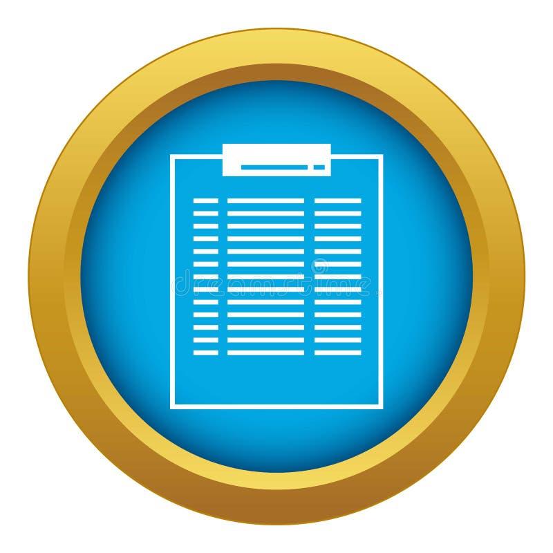 Um vetor azul do ícone da moeda do dinheiro isolado ilustração stock