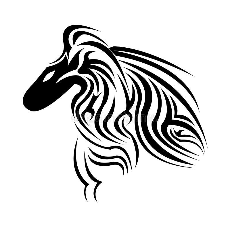 Um vetor bonito do projeto do tatuagem do pássaro ilustração royalty free