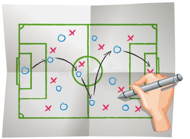 Um vetor do aplanamento do futebol ilustração stock