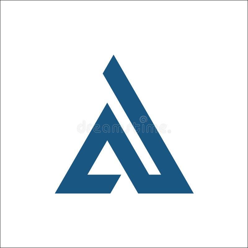 Um vetor inicial do logotipo do triângulo ilustração stock