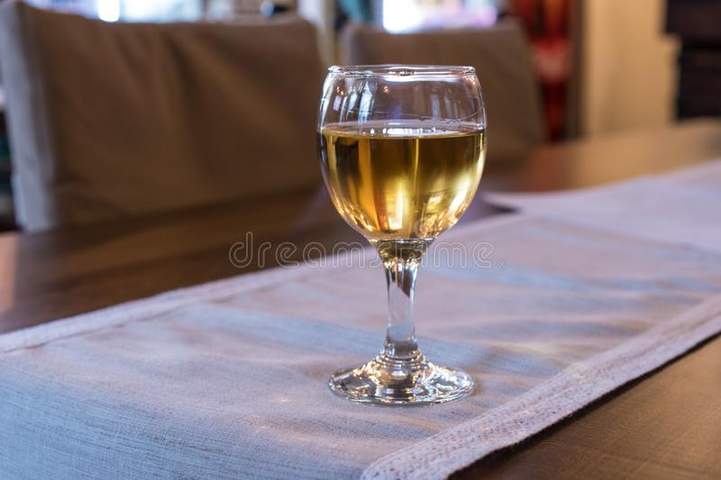Um vidro da aguardente da uva imagem de stock