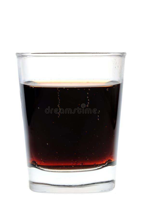 Um vidro da cola foto de stock