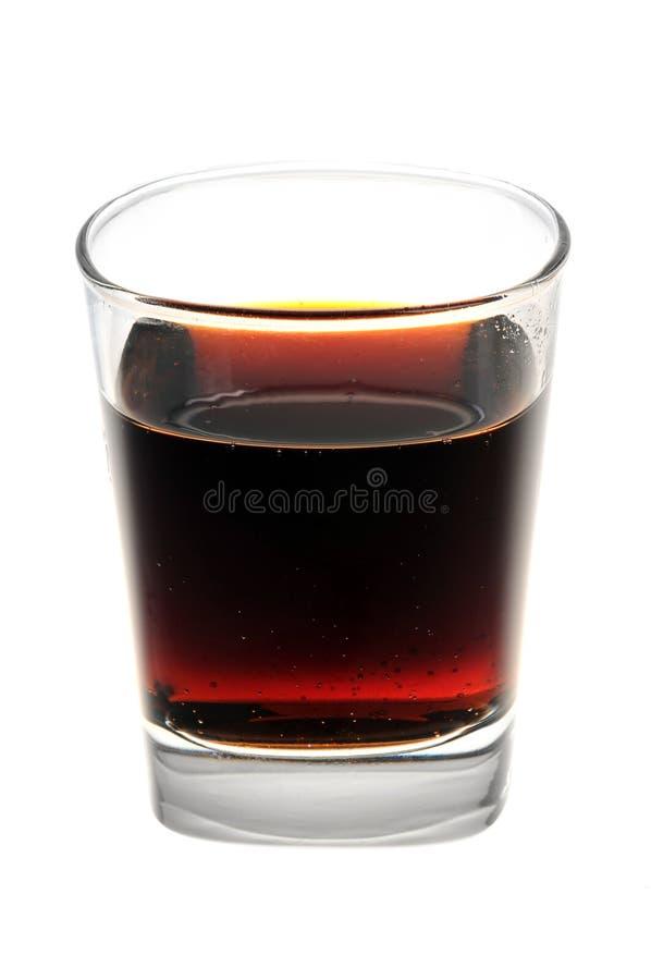 Um vidro da cola foto de stock royalty free