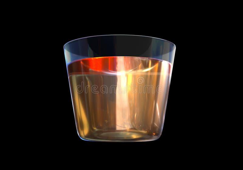 Um vidro do uísque no fundo preto fotos de stock