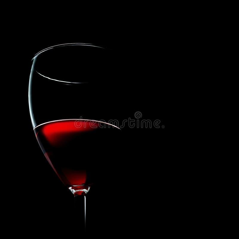 Um vidro do vinho vermelho imagens de stock