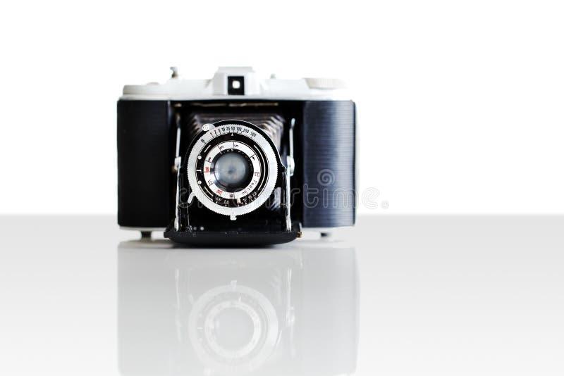 Um vintage feito alemão bonito câmera do filme de 35 milímetros imagem de stock