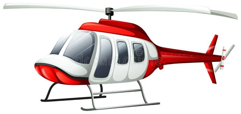 Um voo do helicóptero ilustração stock