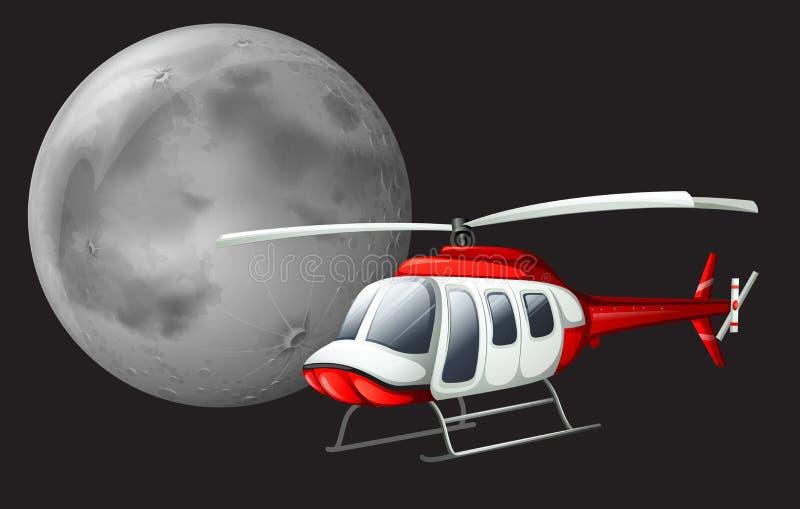 Um voo do helicóptero ilustração do vetor
