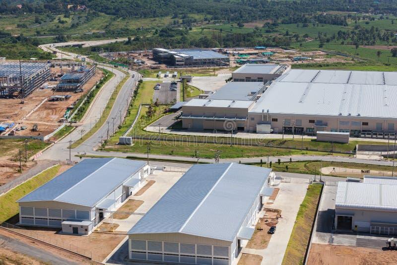 Uma área industrial fotografia de stock
