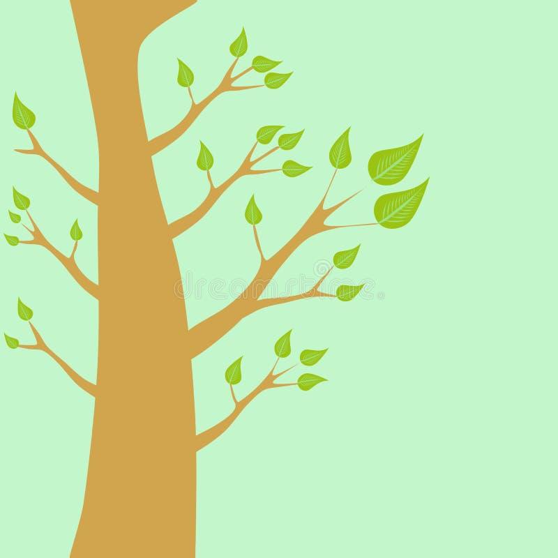 Uma árvore com folhas verdes ilustração royalty free