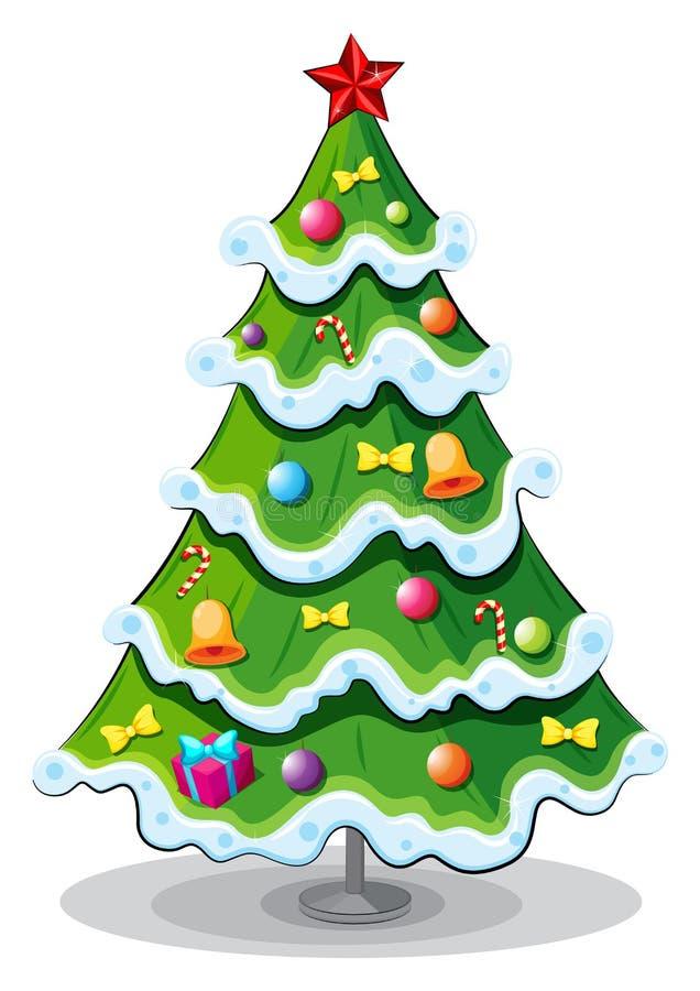 Uma árvore de Natal ilustração do vetor