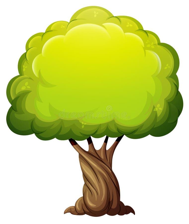 Uma árvore gigante velha ilustração royalty free