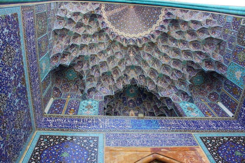 Uma abóbada da mesquita de Jameh de Isfahan, Irã imagens de stock