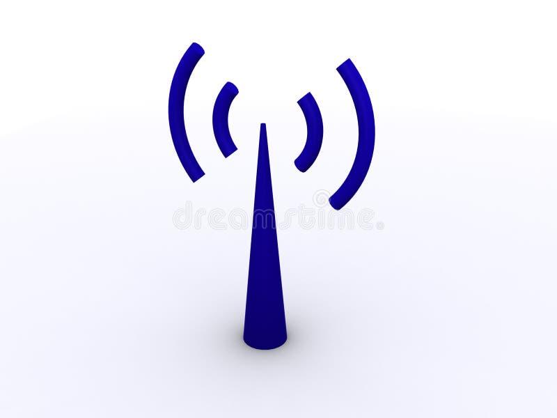 Uma antena de Wi-Fi ilustração stock
