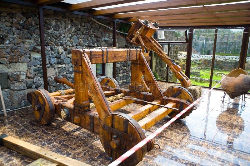 Uma arma militar antiga no museu na fortaleza de Gonio fotos de stock royalty free