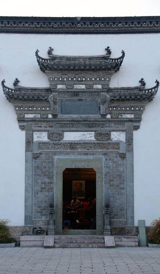 Uma arquitetura chinesa foto de stock