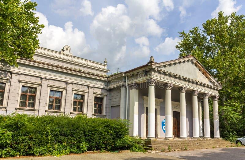 Uma asa do museu de Mimara em Zagreb imagem de stock