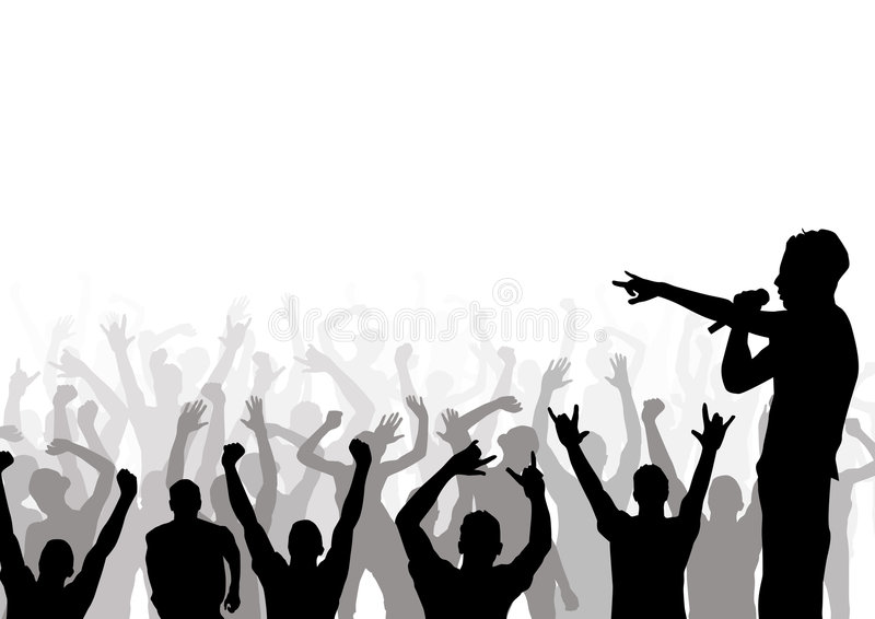 Uma audiência com? ilustração royalty free