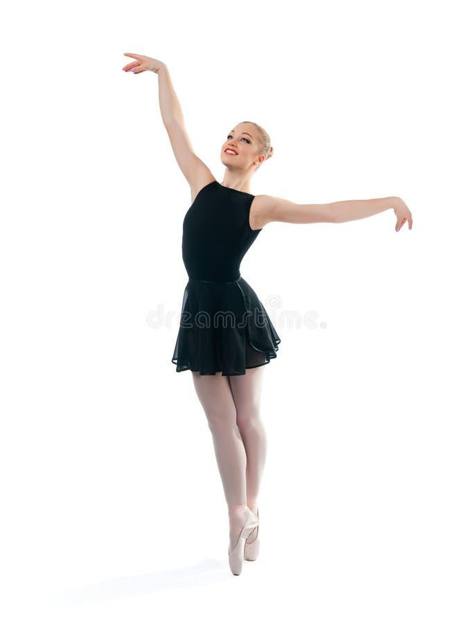 Uma bailarina maravilhosa nova está dançando fotos de stock royalty free