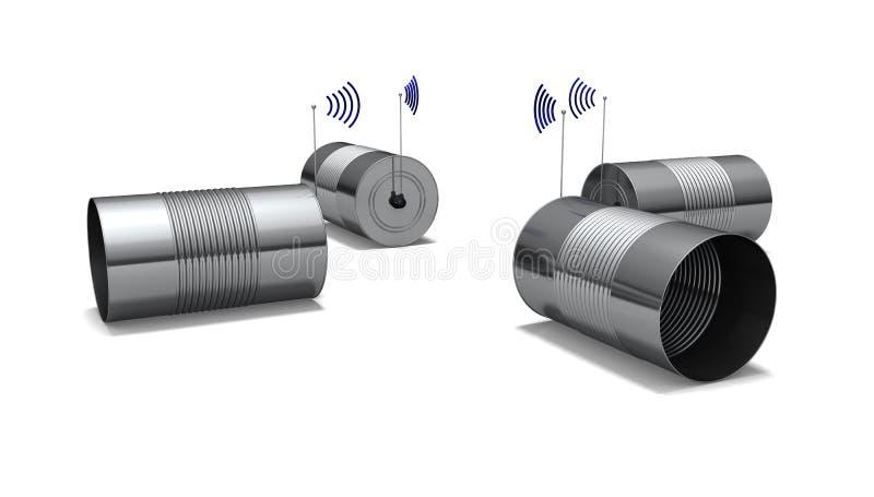 Uma baixa comunicação da tecnologia ilustração stock