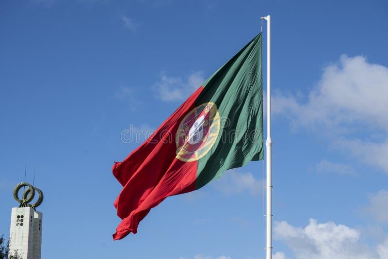 Uma bandeira portuguesa imagens de stock royalty free