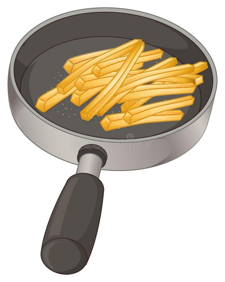 Uma bandeja com fritadas ilustração stock