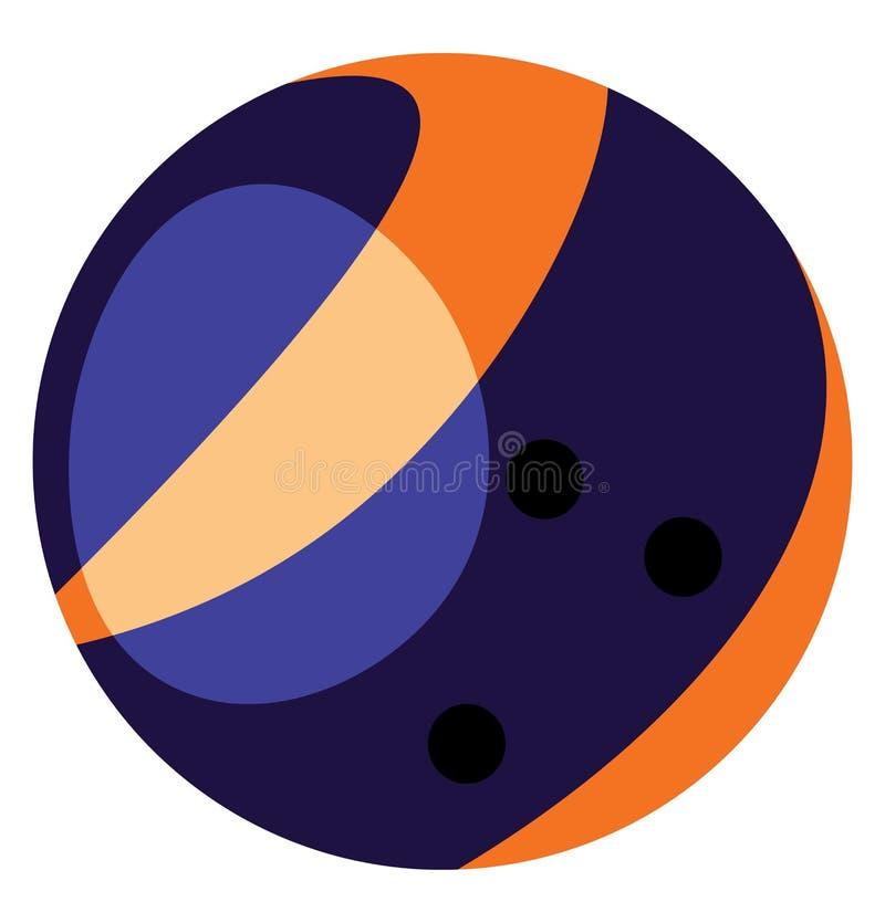 Uma bola brilhante usada para desenho ou ilustração vetorial de jogos de arena de boliche ilustração do vetor